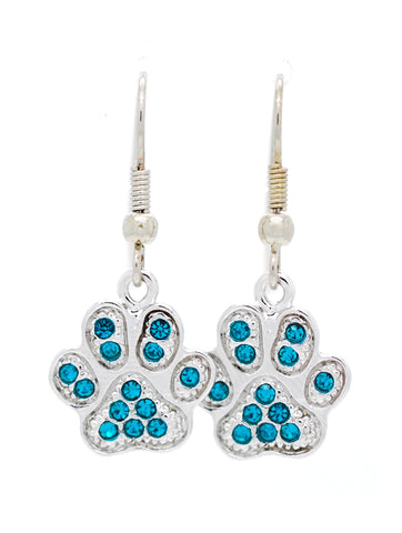Paw Print Earrings - DANGLE