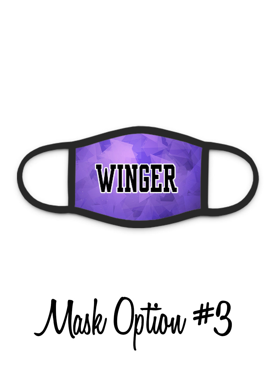 Red Wing Wingers Face Mask - #3 - Winger with Prism Background
