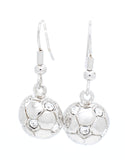Soccer Ball DANGLE Earrings - Half Ball