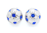 Soccer Ball POST Earrings - Half Ball