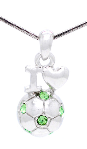 Soccer Necklace Love