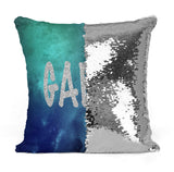 PERSONALIZED SPACE MERMAID SEQUIN FLIP PILLOW