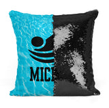 Custom Personalized SWIMMER FREESTYLE Sequin Mermaid Flip Pillow
