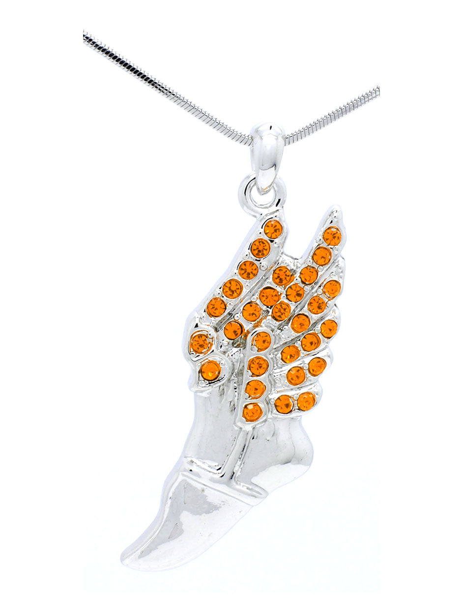Track and Field Necklace Large - Orange