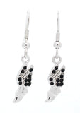Track Winged Foot Earrings - DANGLE