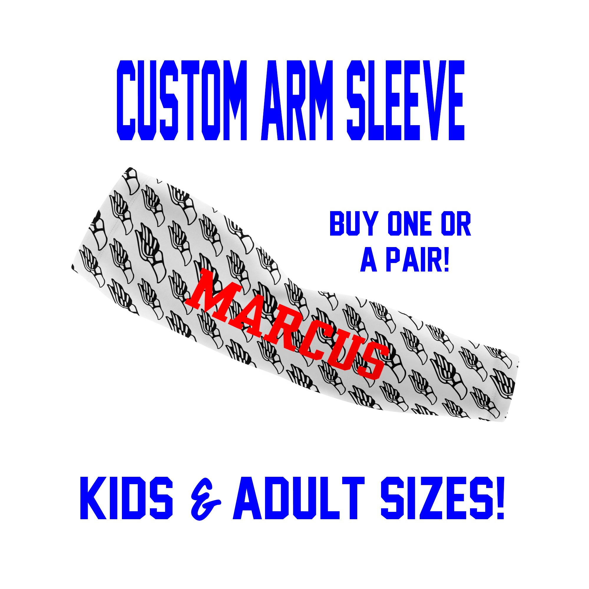 Custom Track Arm Sleeves Laces - Runners Sleeves - Single or Pair