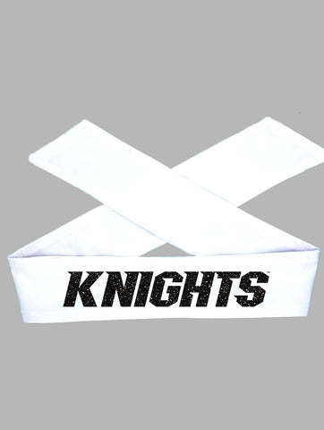 UCF Tie Headband Knights - White/Black Sparkle