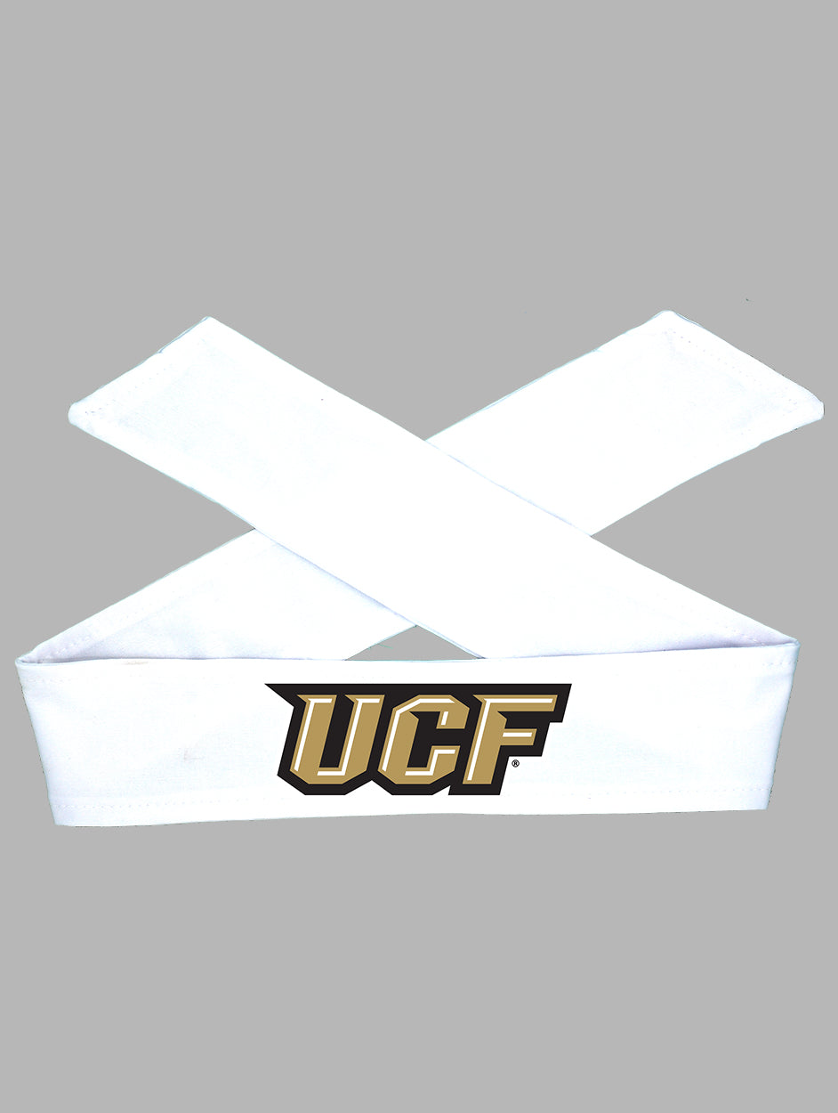 UCF Tie Headband - White/Full Color
