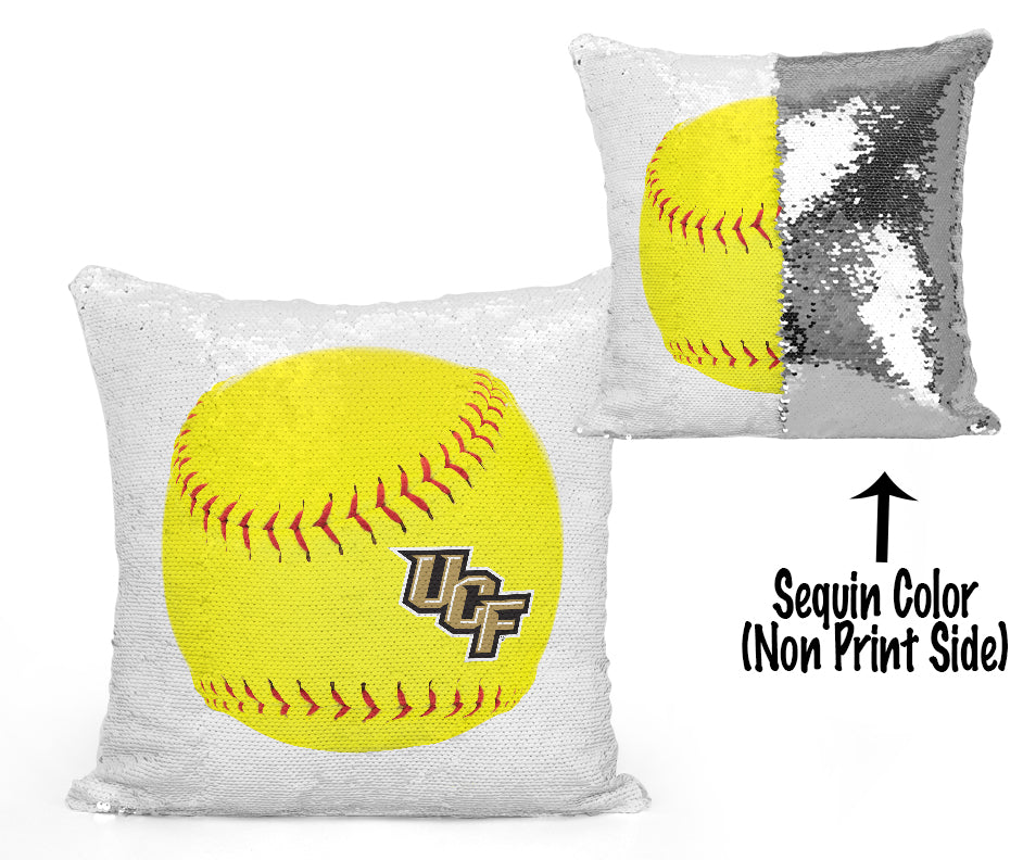 UCF Sequin Flip Pillow - University of Central Florida - UCF Softball Fastpitch Design