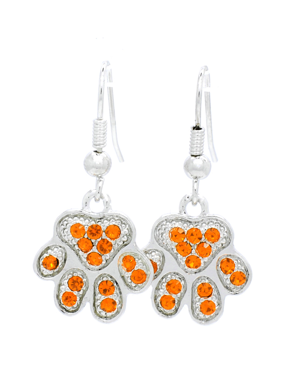 Paw Earrings Upside Down - DANGLE