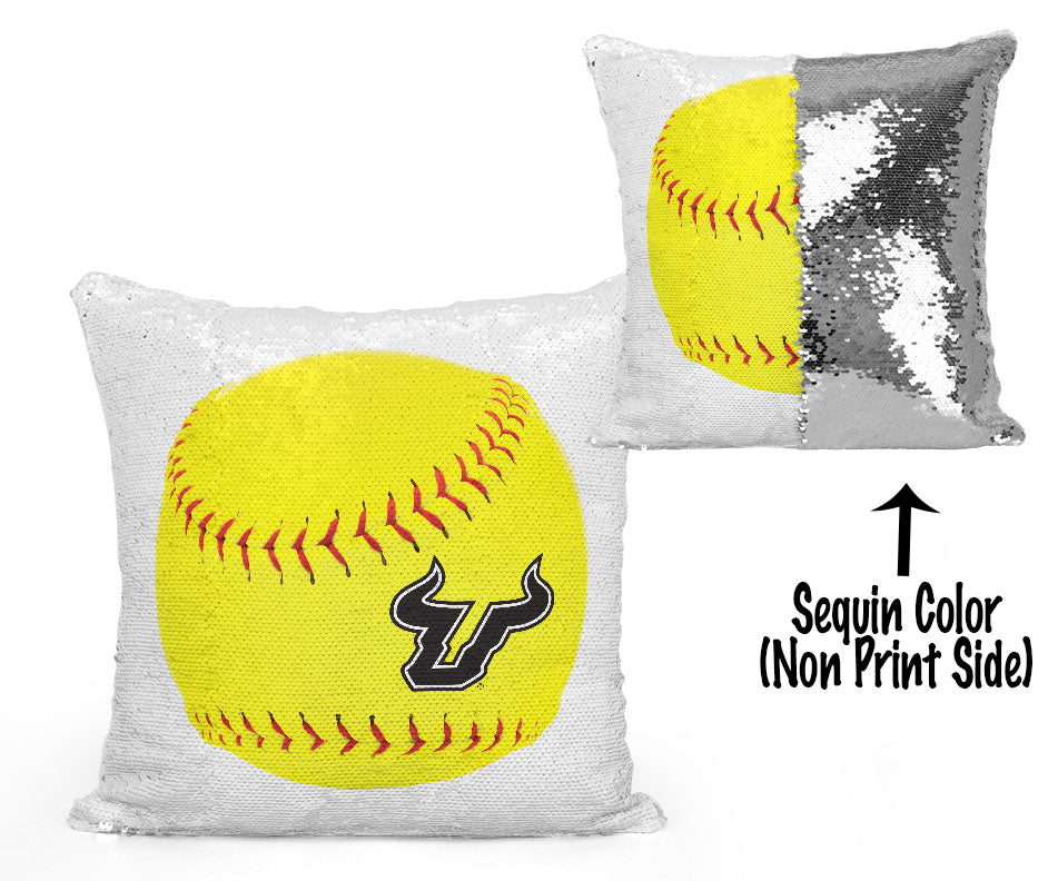USF Sequin Flip Pillow - University of South Florida - USF Softball/Fastpitch