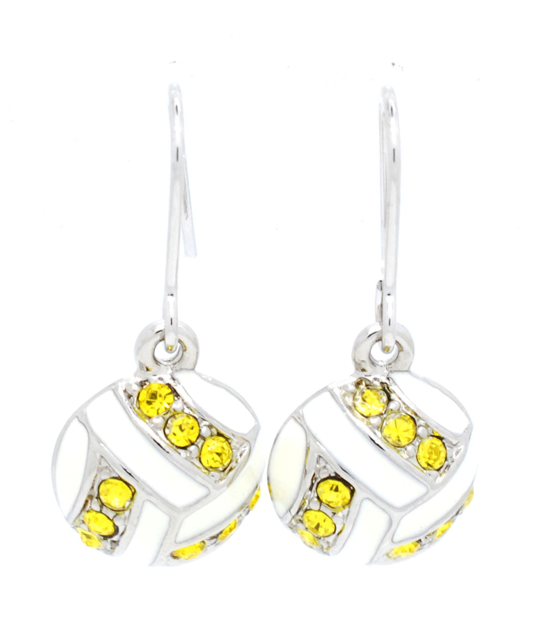 Volleyball Enamel Earrings - DANGLE