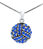 Volleyball Crystal Necklace - Large