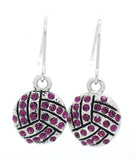 Volleyball Crystal Earrings - DANGLE