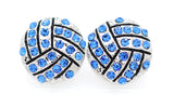 Volleyball Crystal Earrings - POST