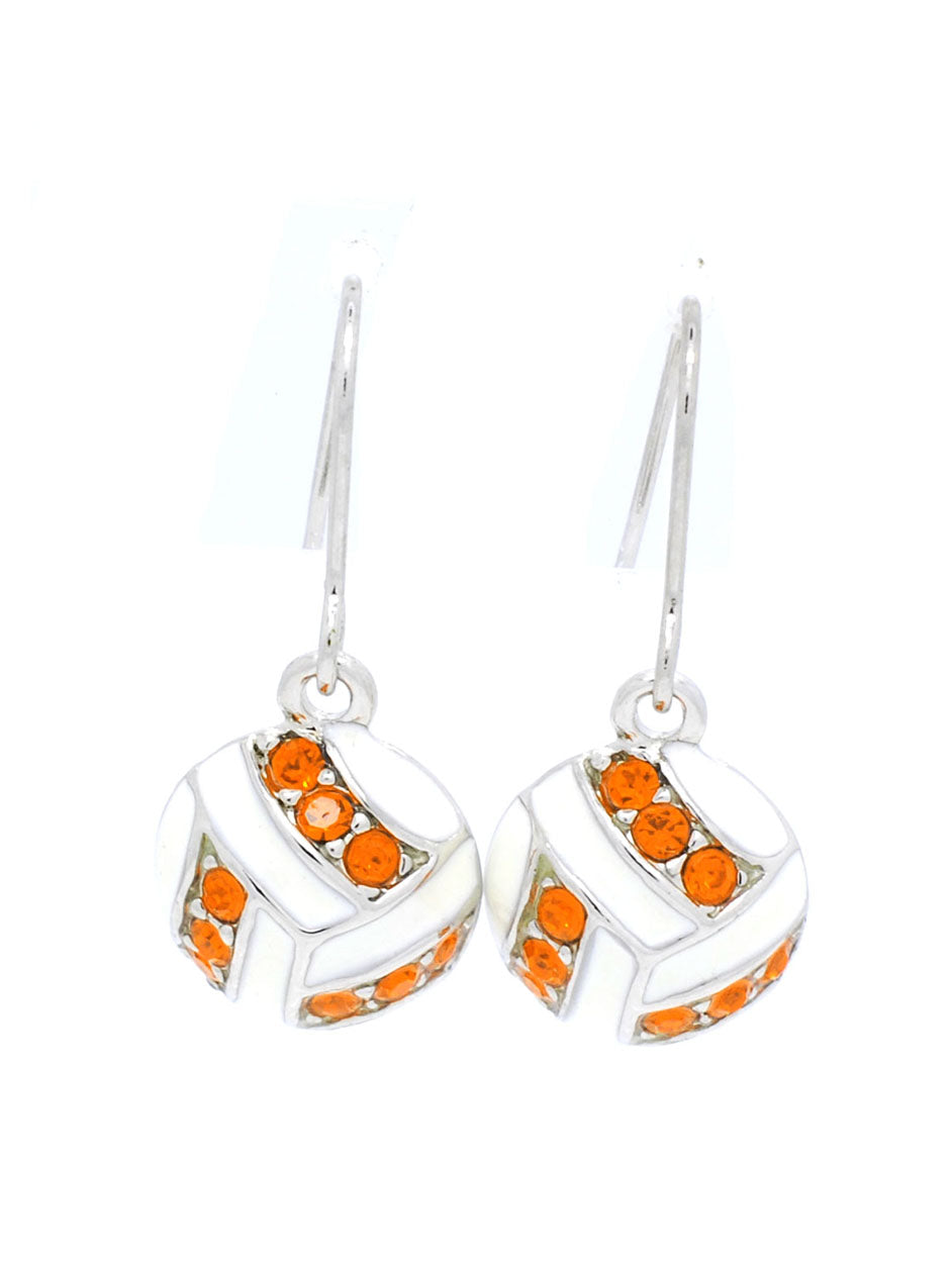 Volleyball Earrings DANGLE - Orange