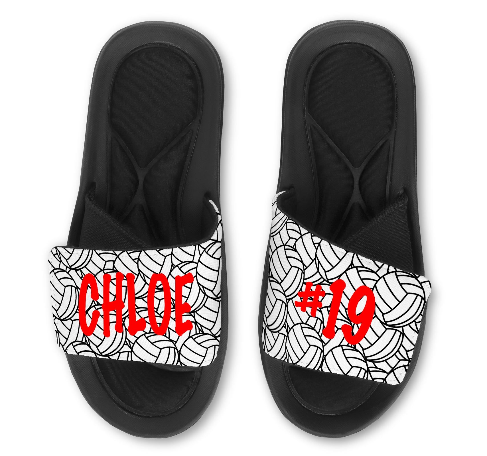 Volleyball Custom Slides / Sandals -Customize With Your Name Or Number!