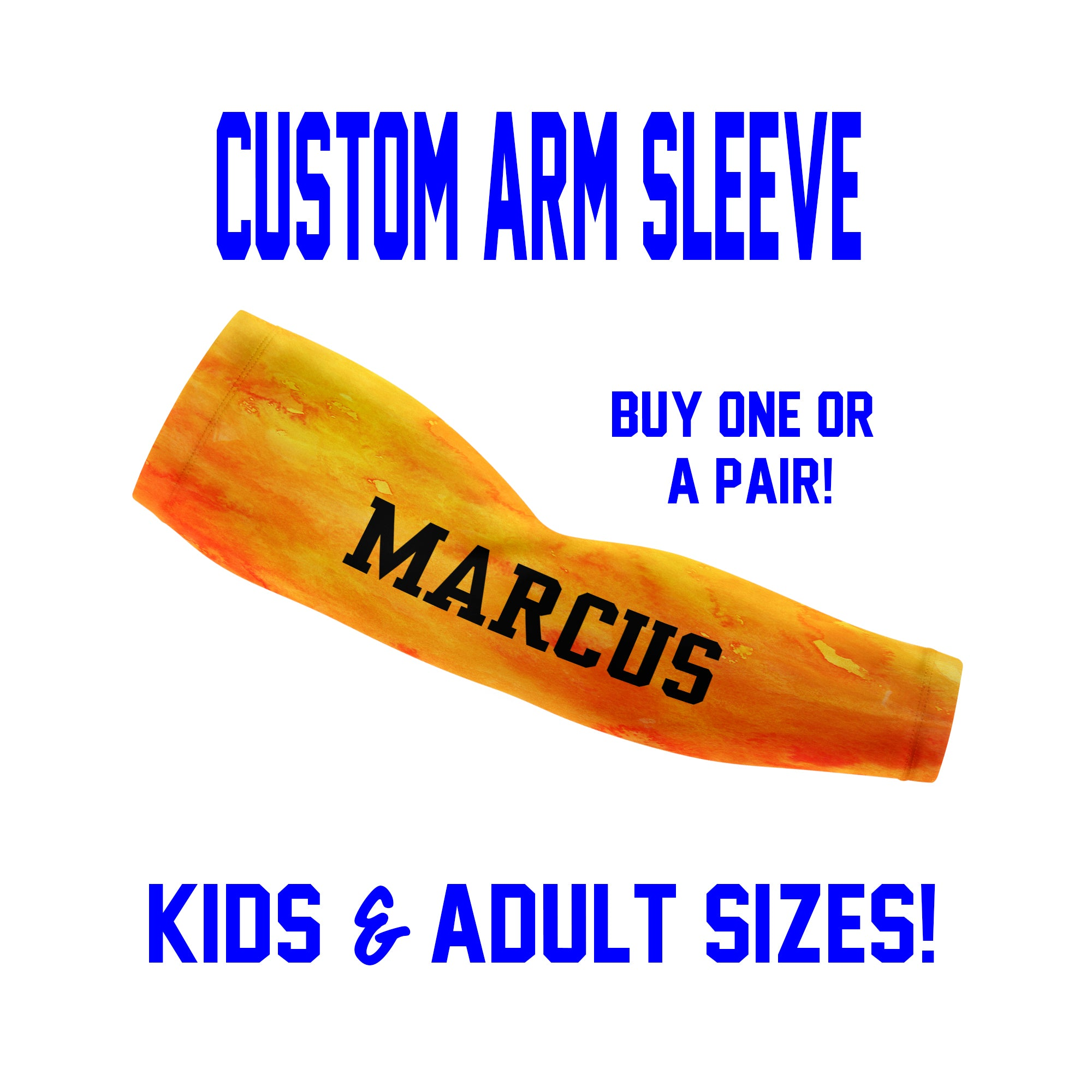 Custom Arm Sleeves - Watercolors - Single or Pair - Choose Your Background