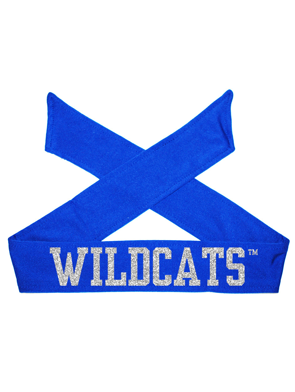 Kentucky UK Wildcats Tie Headband - Royal/Silver Sparkle