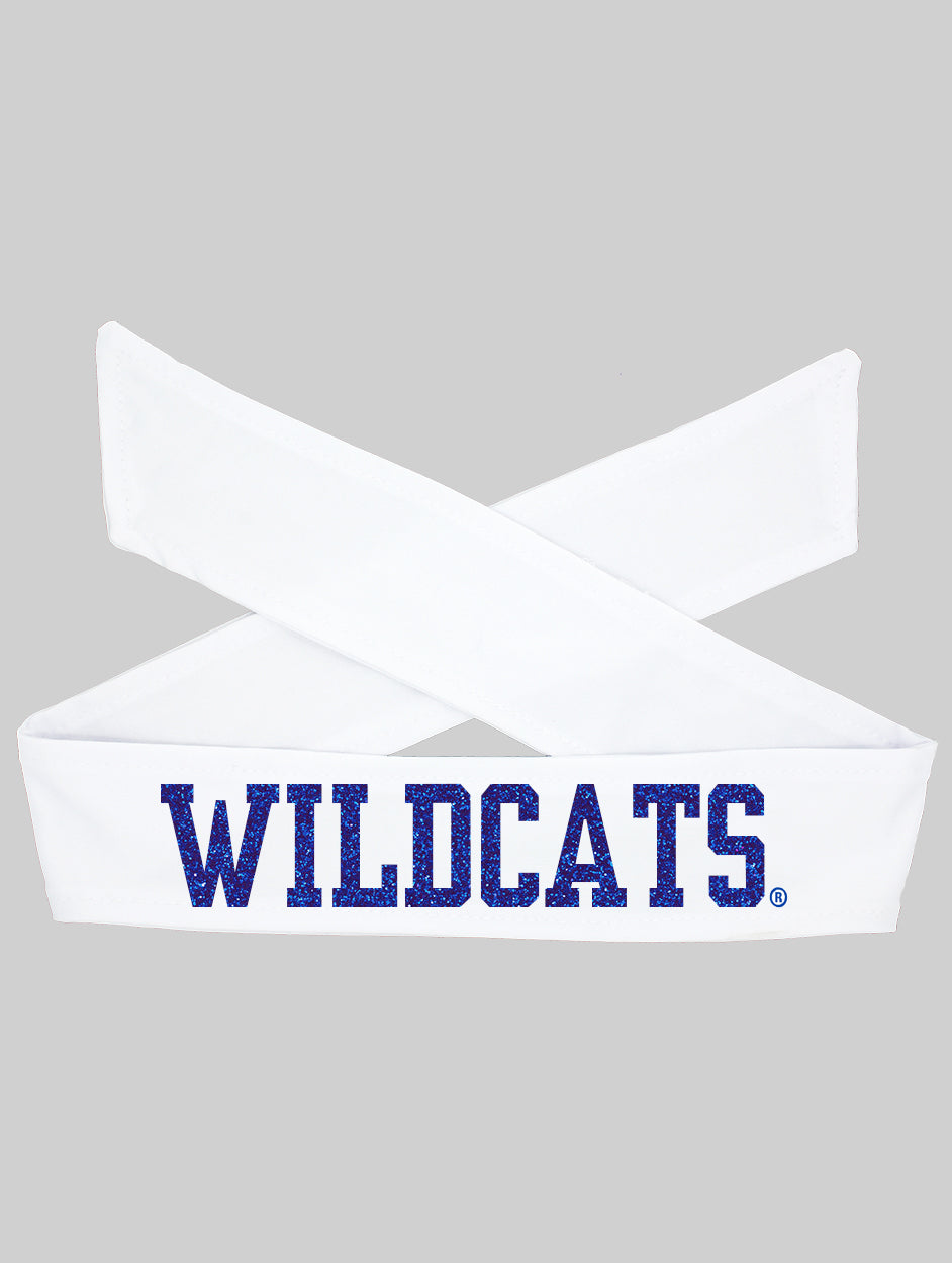 Kentucky UK Wildcats Tie Headband - White/Royal Sparkle