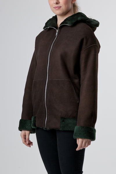 Brown Bomber Jacket Womens
