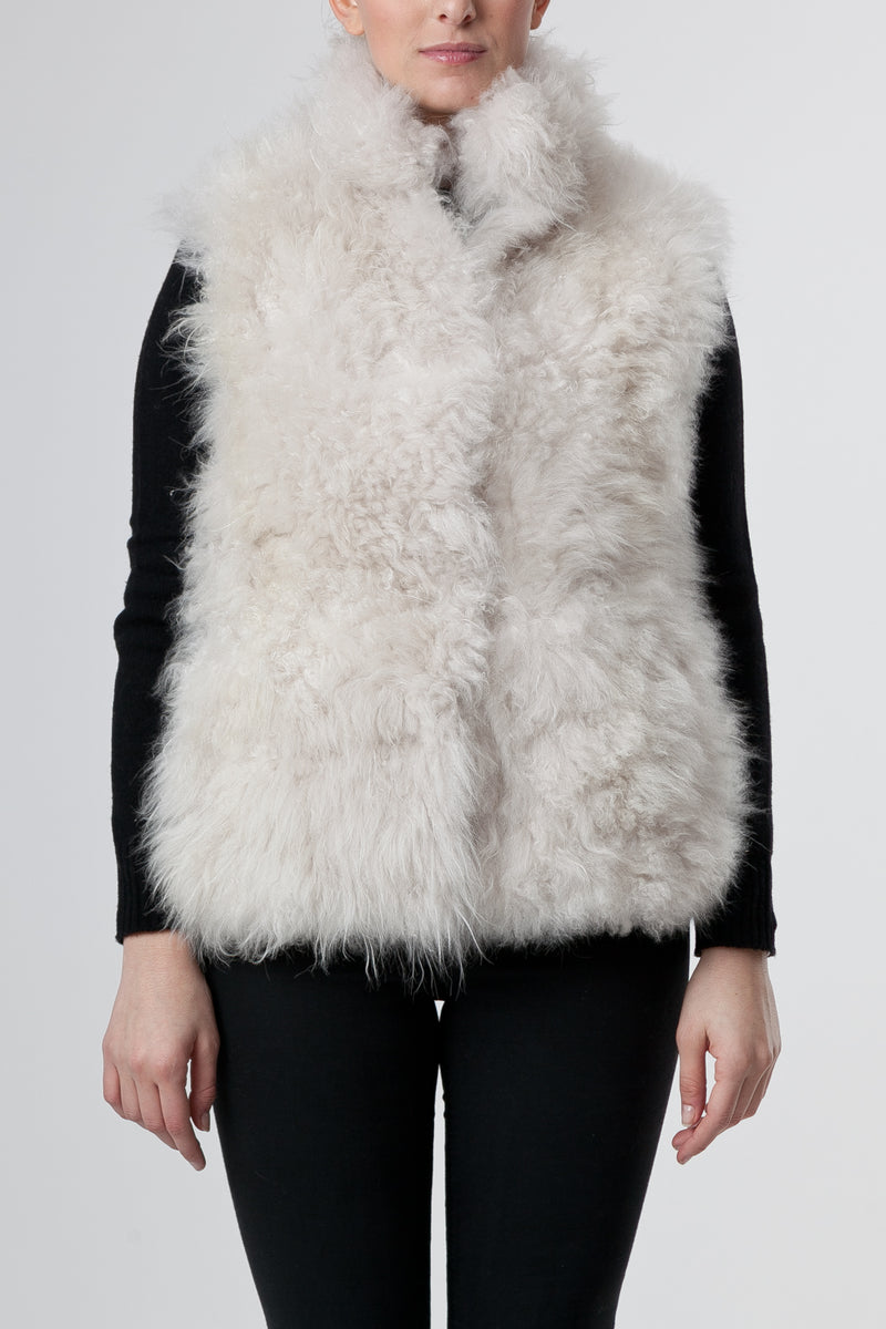 Il Gilet Corto Off White - The Short Vest Off White