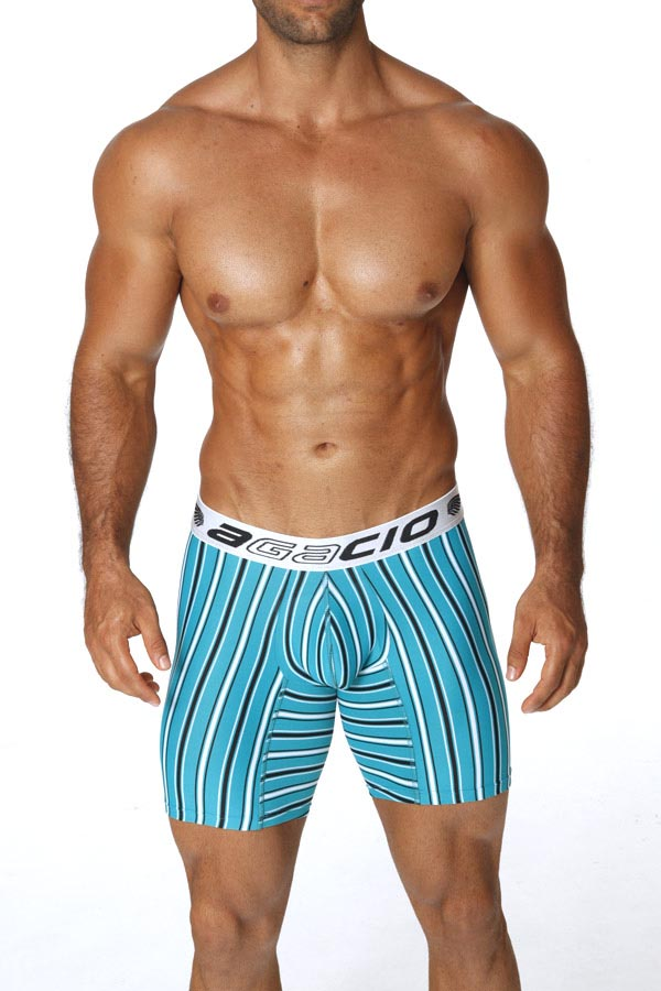 Agacio AG5932  Long Boxer Horizontal Stripes