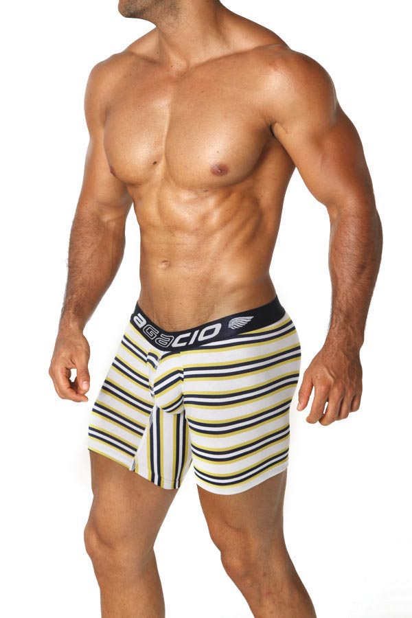 Agacio AG5938  Long Boxer Stripes