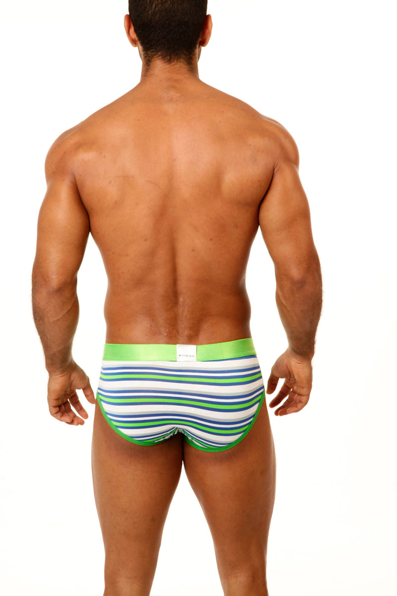Agacio AG6740 Striped Pouch Brief