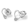 Lacrosse stick hearts stud earrings lacrosse jewelry