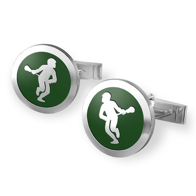 Lacrosse Player Cufflinks lacrosse jewelry- Lacrosse gifts for guys