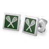 Quadrato Lacrosse Stud Earrings lacrosse jewelry