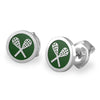Rolo Lacrosse Stud Earrings lacrosse jewelry