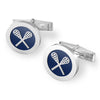Silver lacrosse cufflinks-lacrosse jewelry- Lacrosse gifts for guys