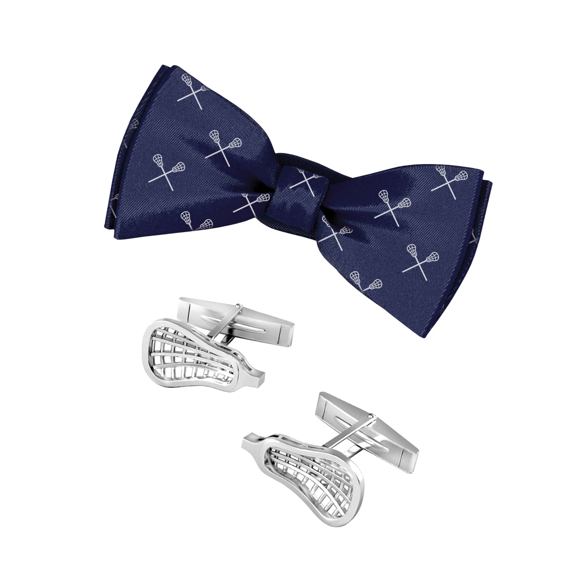 Lacrosse Bowtie and Cuff Links