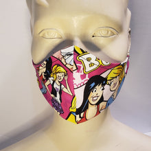 Load image into Gallery viewer, Betty and Veronica Face Mask Front View