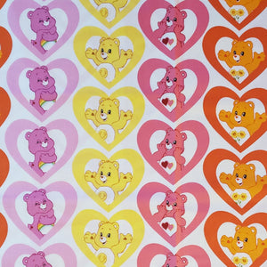 I heart Care Bear Reference Cotton Fabric