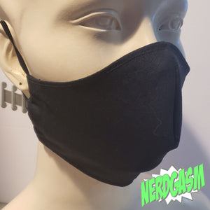 Black - Fabric Face / Dust Mask