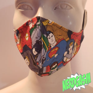 Justice League - Fabric Face / Dust Mask