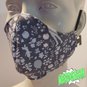 Pooh and Friends Silhouette - Fabric Face / Dust Mask