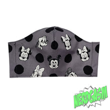 Load image into Gallery viewer, Mickey and Friends Polkadotted Fabric Face / Dust Mask