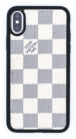 "Custom Louis Vuitton iPhone X Case ""Damier Azur"""