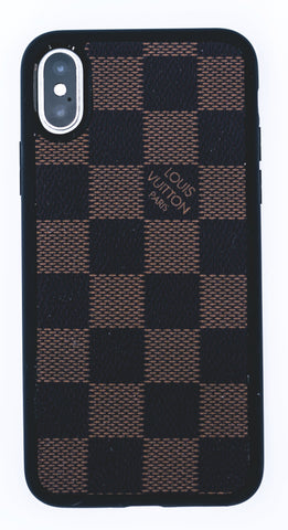 "Custom Louis Vuitton iPhone X Case ""Damier Ebene"""
