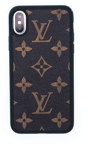 "Custom Louis Vuitton iPhone X Case ""Monogram Ebene"""