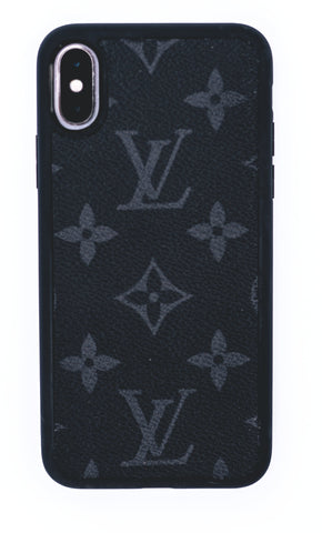 "Custom Louis Vuitton iPhone X Case ""Monogram Black"""