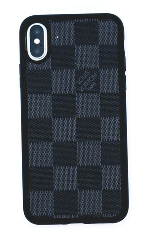"Custom Louis Vuitton iPhone X Case ""Damier Graphite/Black"""