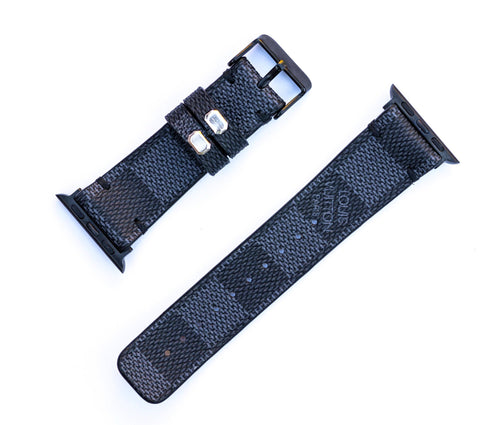 "Custom Louis Vuitton Apple Watchband ""Damier Graphite/Black"""