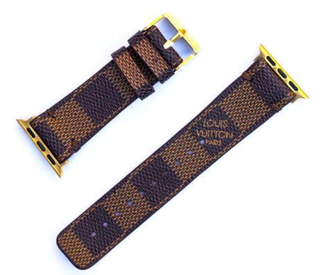 "Custom Louis Vuitton Apple Watchband ""Damier Ebene'"
