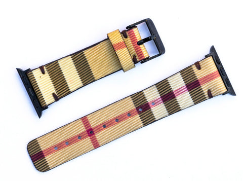 "Custom Burberry Apple Watchband ""New Classic Check"""