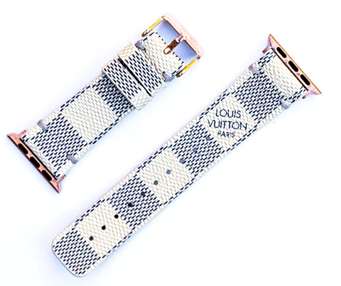 "Custom Louis Vuitton Apple Watchband ""Damier Azur"""